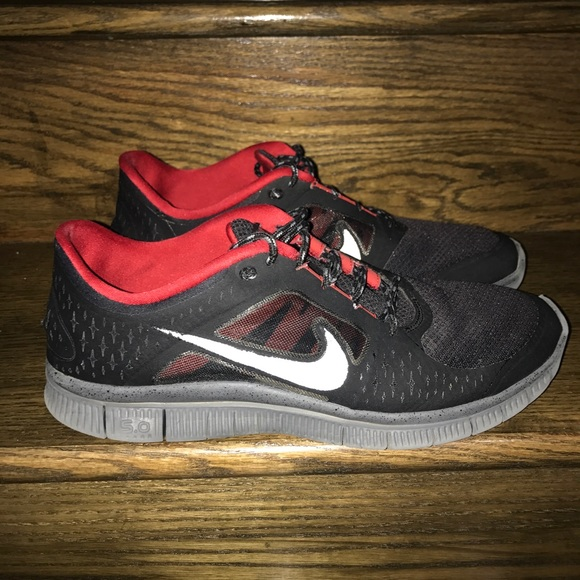 info for 26d3b ce213 Nike Other - Men Nike Free Run 3 Black/Red/Grey Running Shoes